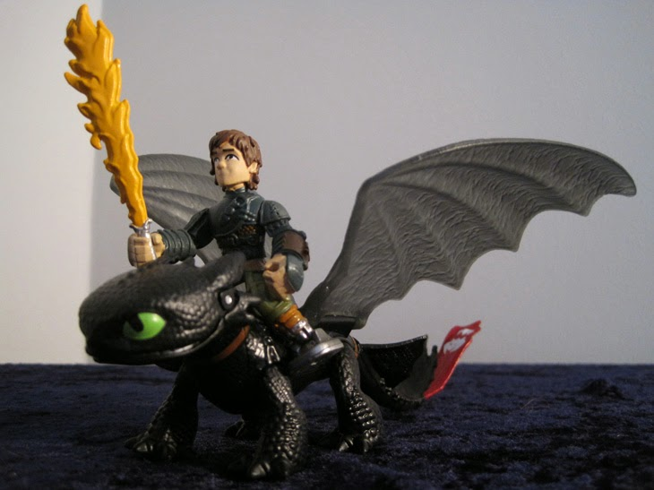 Dragon Riders Hiccup and Toothless.