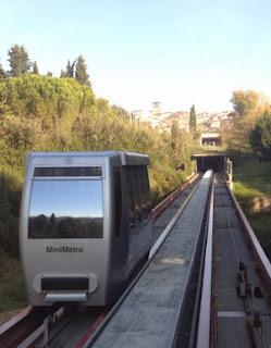 Il Minimetrò di Perugia in funzione