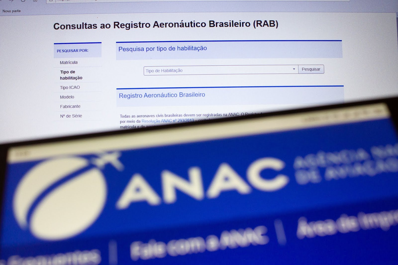 Consultas ao Registro Aeronáutico Brasileiro (RAB)