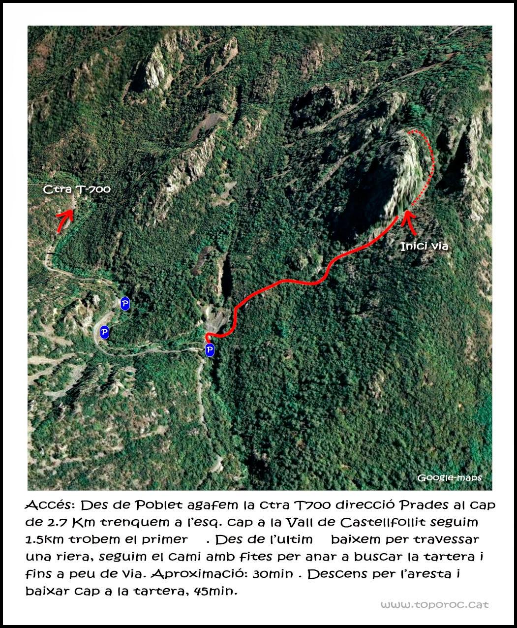 Vall de Castellfollit escalada via llarga