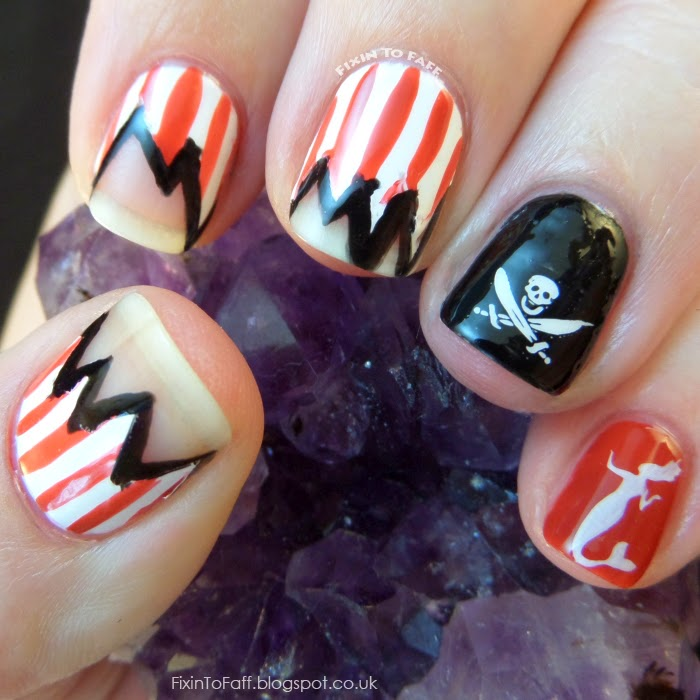 Pirate Girl Nail Designs ~ Beautiful Nails And Color