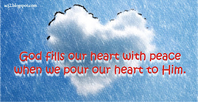 pour our hearts to God