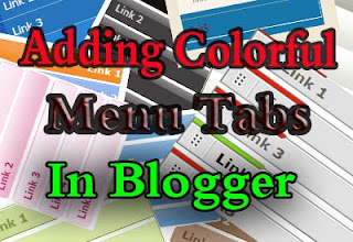 adding menu tabs in blogger