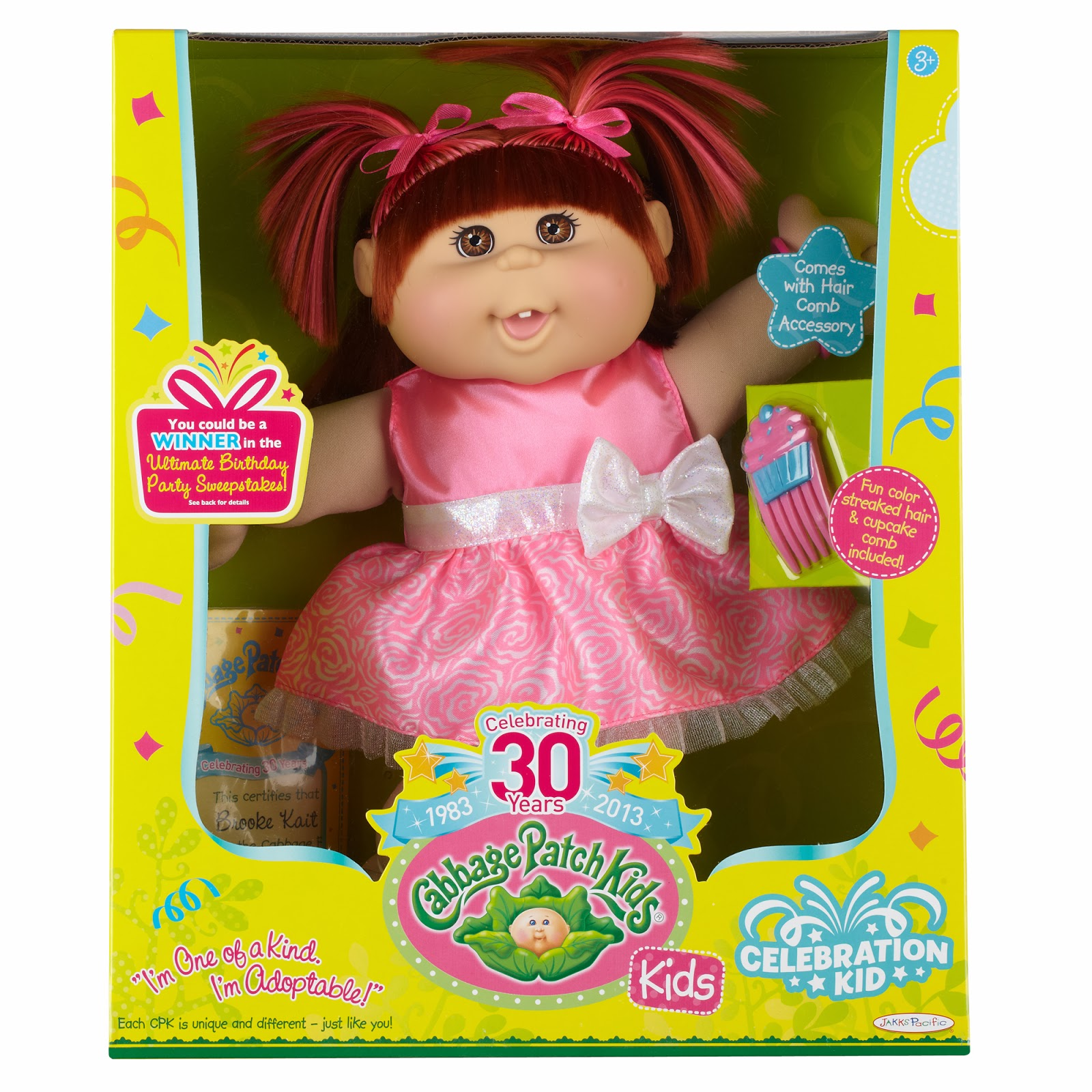 Cabbage patch kids 30th anniversary dolls canadian mom reviews share your favorite childhood toy with your kids by give them a cabbage patch kid that is unique and different just like themeach doll is approx aiddatafo Images