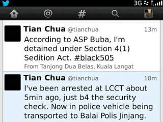 tian chua dan harris ditahan polis, pkr ditahan polis, gambar tian chua ditahan polis, tian chua ditahan polis, keratan twitter tian chua