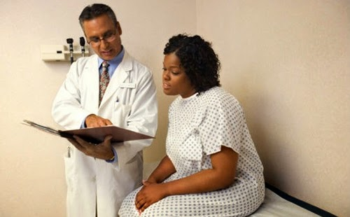 Black woman with cervical cancer