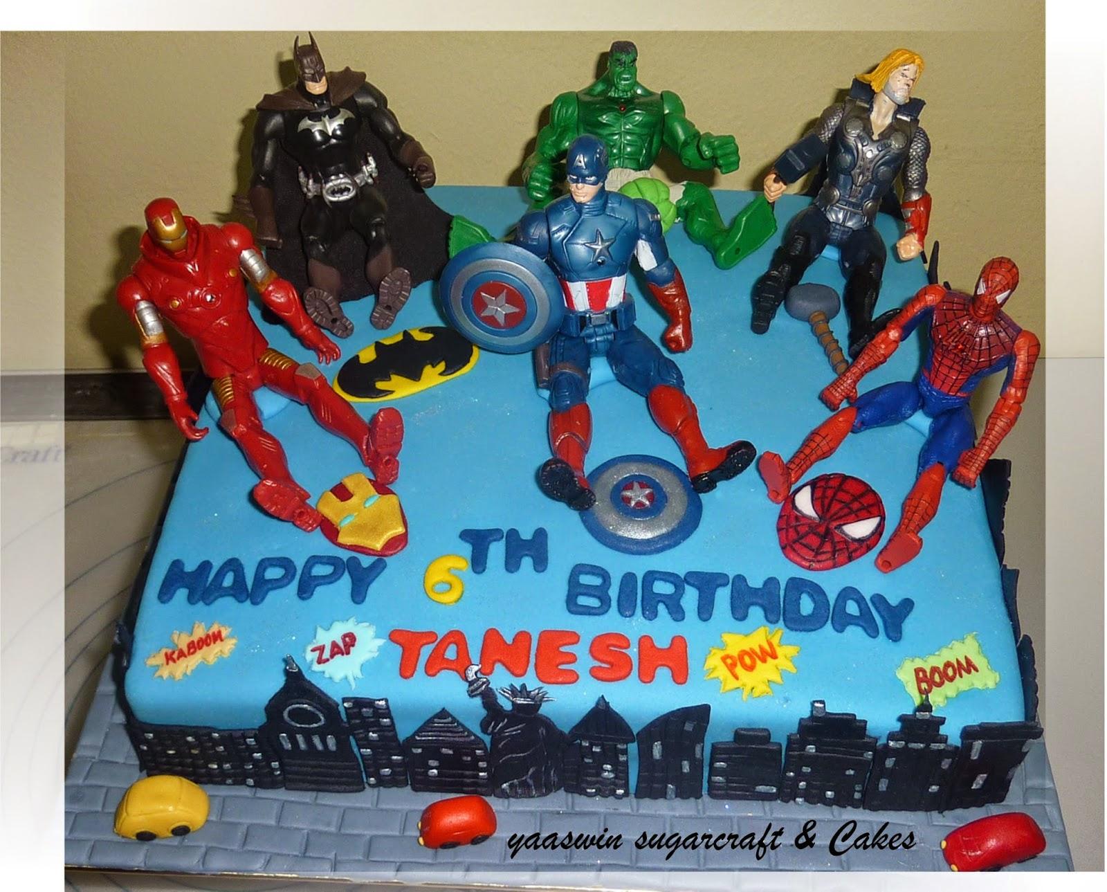 Yaaswin Sugarcraft Cakes Superheroes Themed Orange Cake