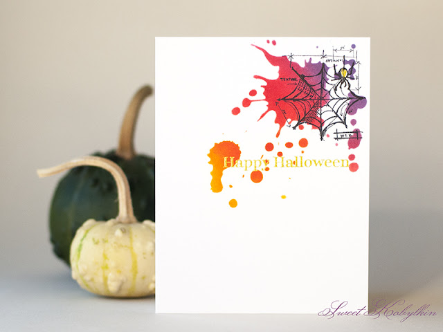 Halloween Card with Halloween from Tim Holtz by Sweet Kobylkin