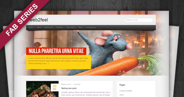 Free Sosa Minimalistic Fabseries WordPress Theme