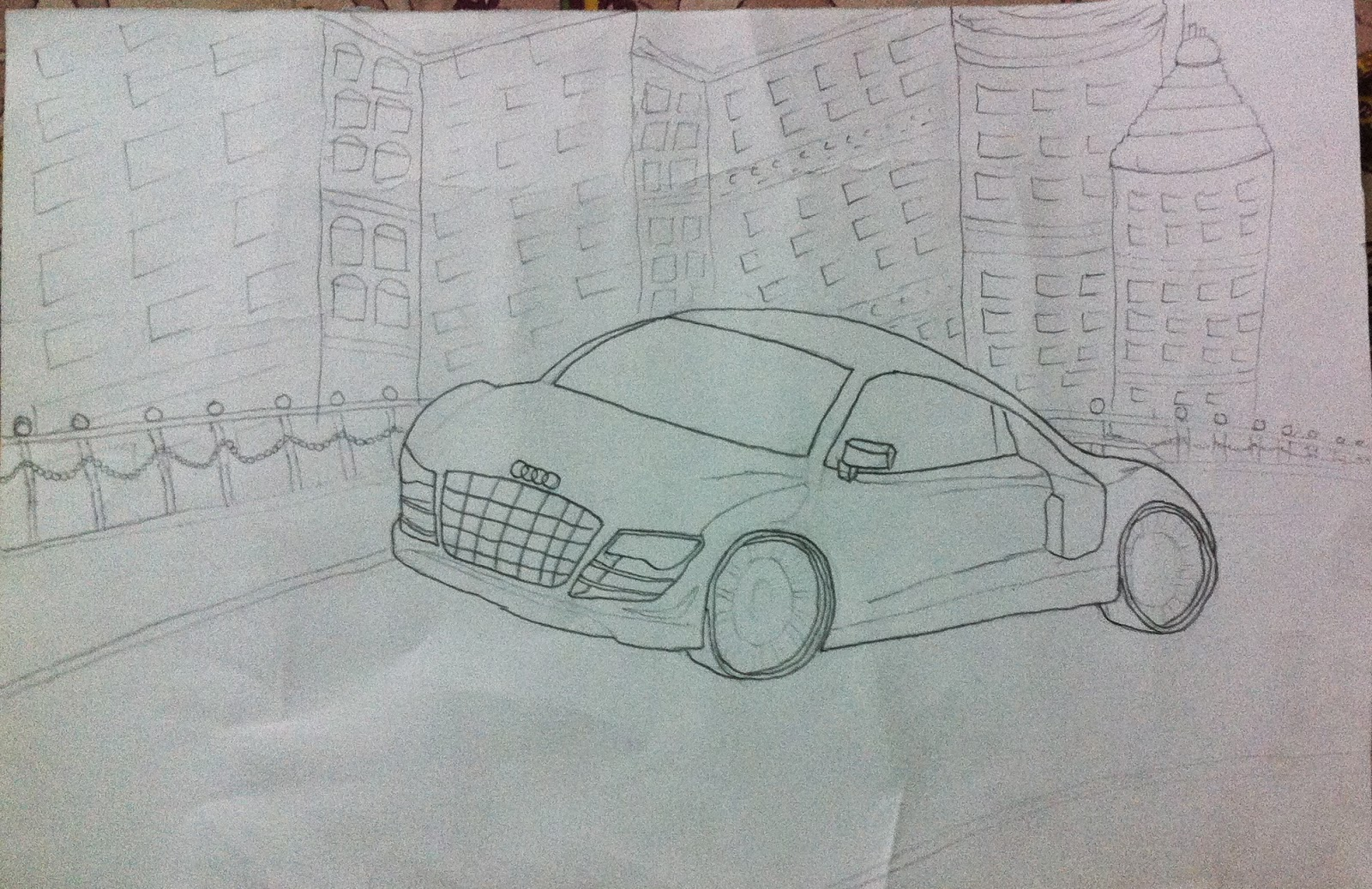 Best 3D Pencil Shading Car [audi-Car] Sketching Drawing Tricks
