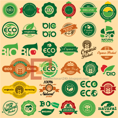 [Vector] Organic eco labels