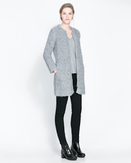 Love this loop knit gray coat from Zara, $119.