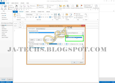 Auto Add Signature in MS Outlook Emails - Step 7