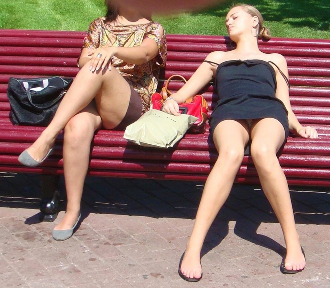 Voyeur women in the street