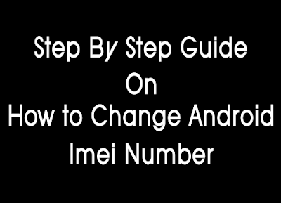 How to change android imei number