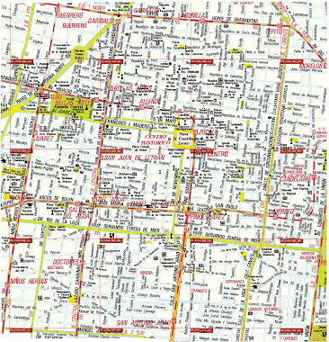 "Historical Center Map ""downtown"""