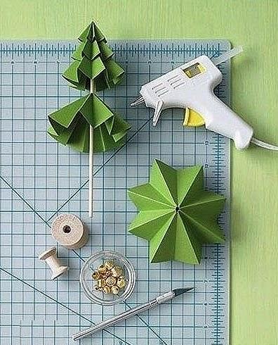 DIY, Arbol de Navidad con Papel Doblado