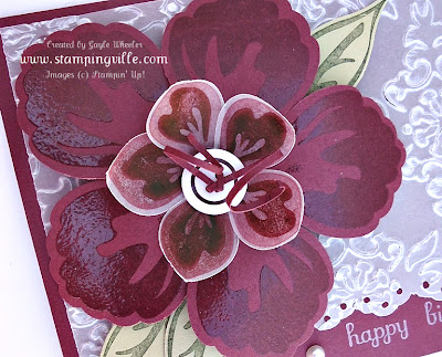 Bravo Burgundy Build a Blossom stamp set by Stampin' Up!