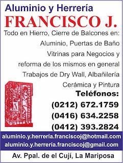ALUMINIO Y HERRERIA FRANCISCO J. en Paginas Amarillas tu guia Comercial