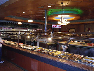 A view of a portion of the serving area.