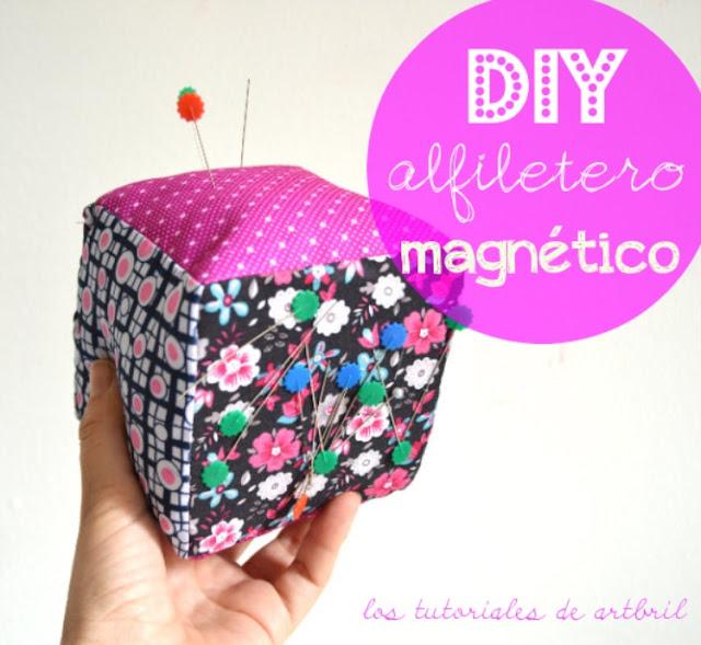 alfiletero patrón magnetico iman diy como hacer