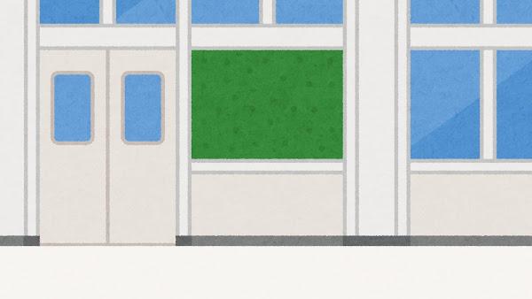 学校の廊下のイラスト(背景素材)