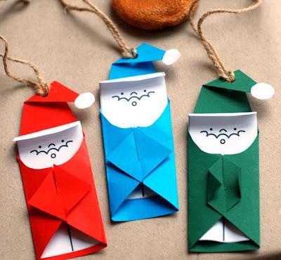 lembrancinhas de natal feita com papel