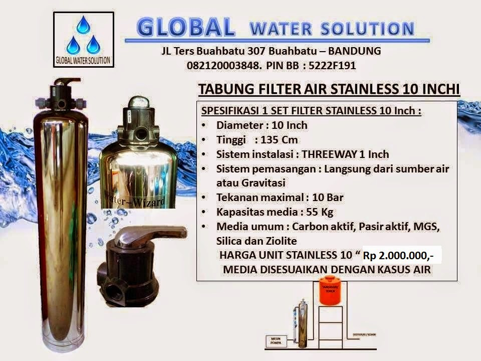 TABUNG FILTER AIR STAINLESS 10
