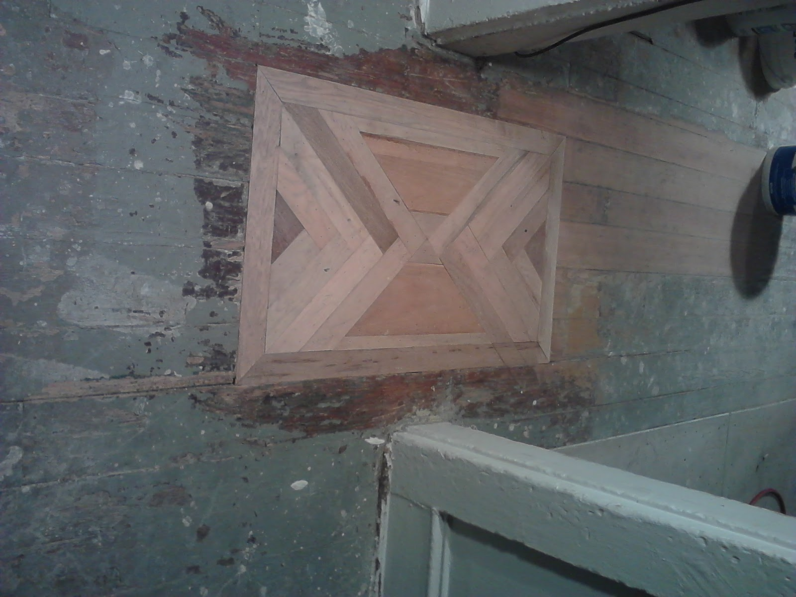 Custom Flooring Patch-http://stlouisrenewableenergy.blogspot.com/2013/01/benton-rehab-flooring-custom-floor-patch.html