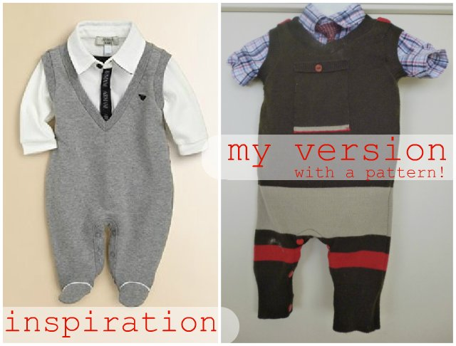 FREE PATTERN: Sweater Vest Overalls - Heather Handmade