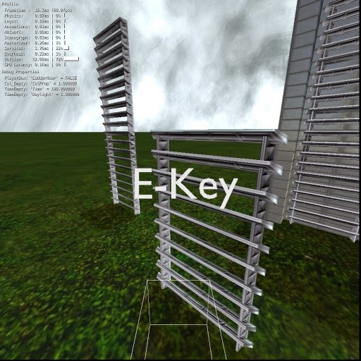 Blender Game Engine - Climbable Ladder Component 2.74 by DennisH2010