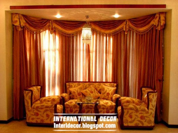 Top catalog of luxury drapes curtain designs for living room interior 2015 - Latest interior curtain design ...