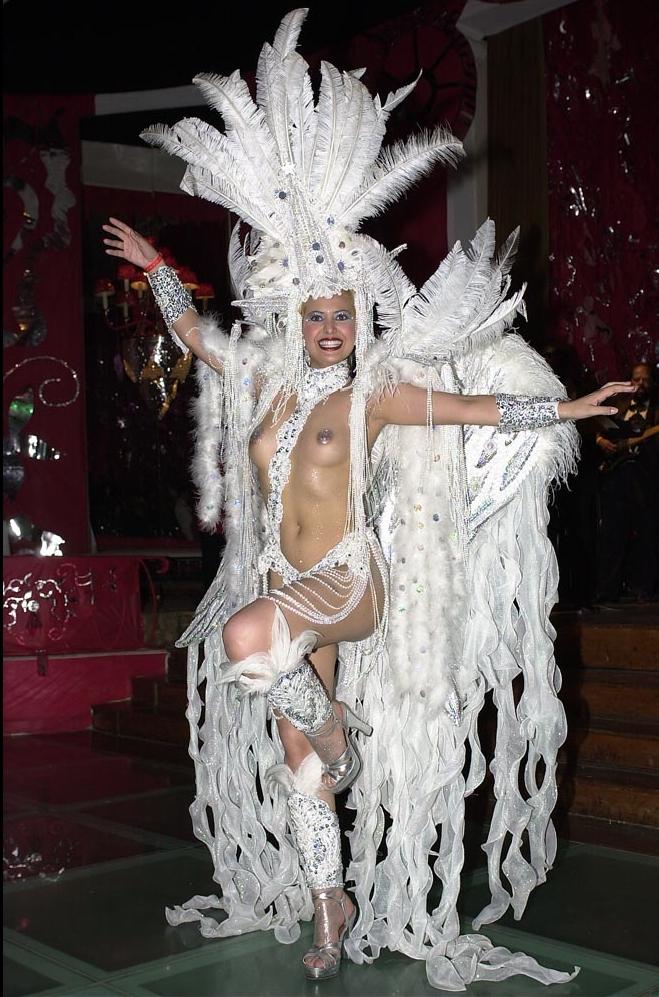 Rio Carnival 2001, Anna Flavia Tarcitano at the Black Tie Ball.