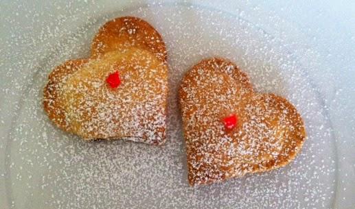 corazones crujientes de chocolate