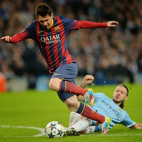 Manchester City vs. Barcelona Champions 2014