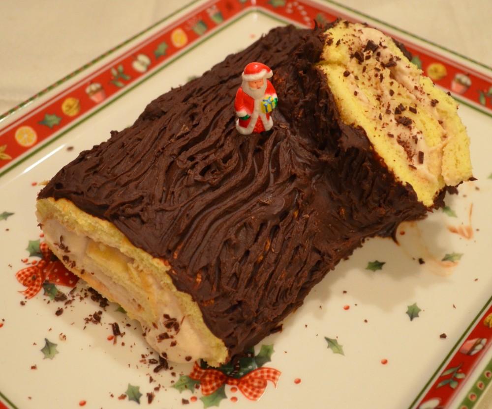 CC-cuisine: Bûche de Noël marron rhum chocolat