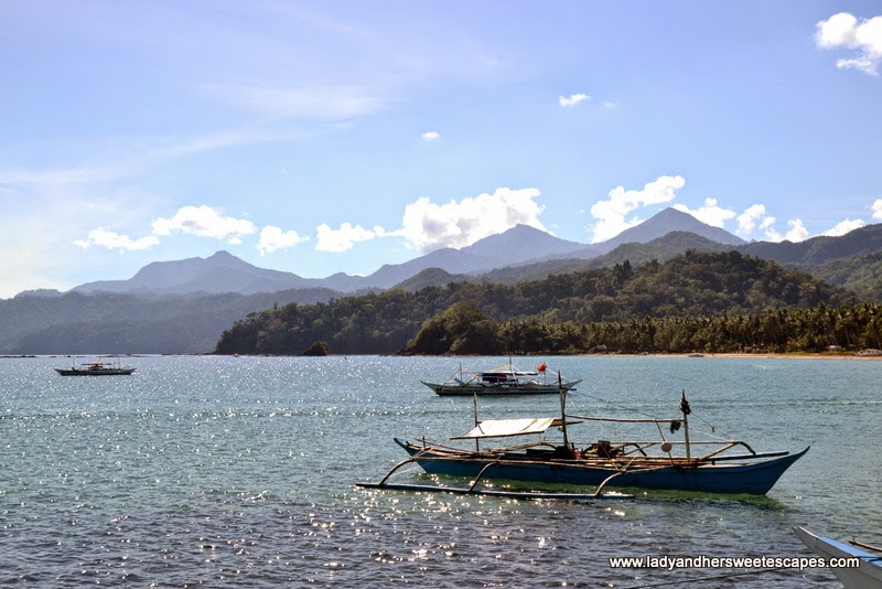 the view from Sabang Wharf in Puerto Princesa