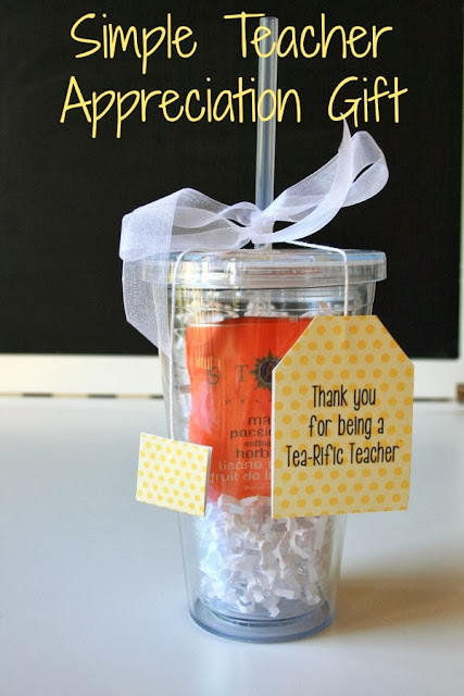 Simple Iced Tea Cup Appreciation Teacher Gift