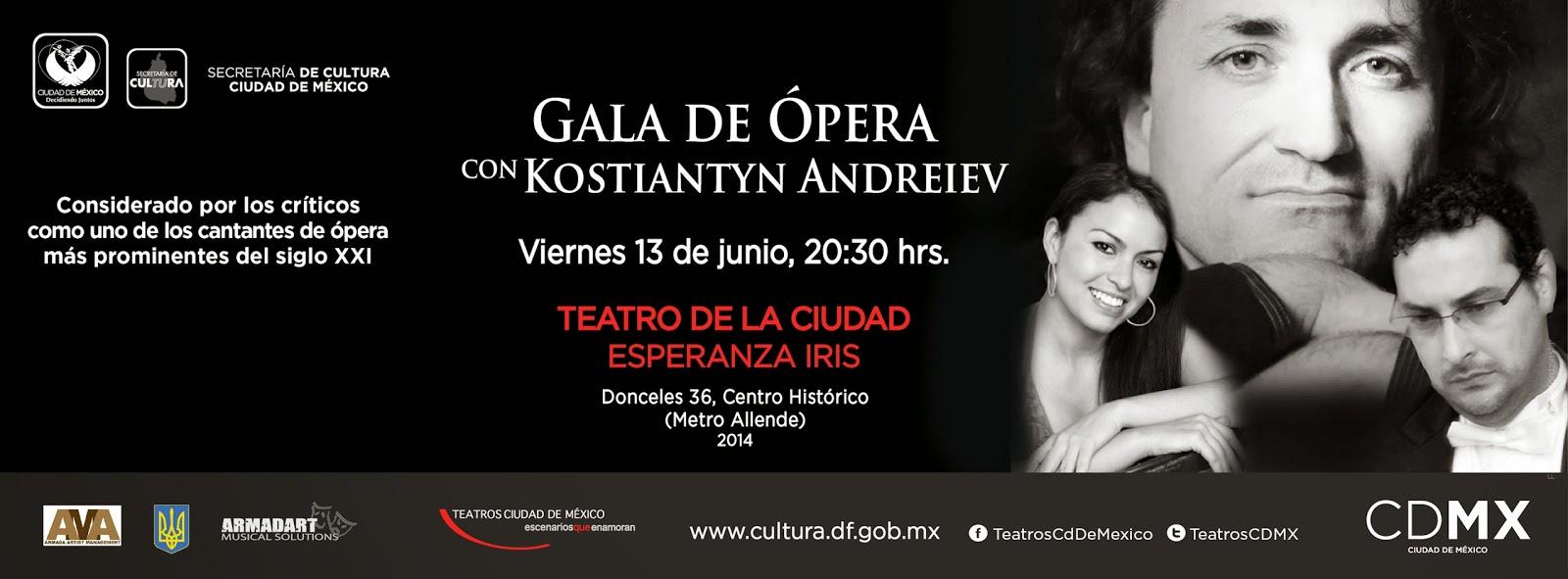 Gala de Ópera con Kostiantyn Andreiev en el Teatro de la Ciudad