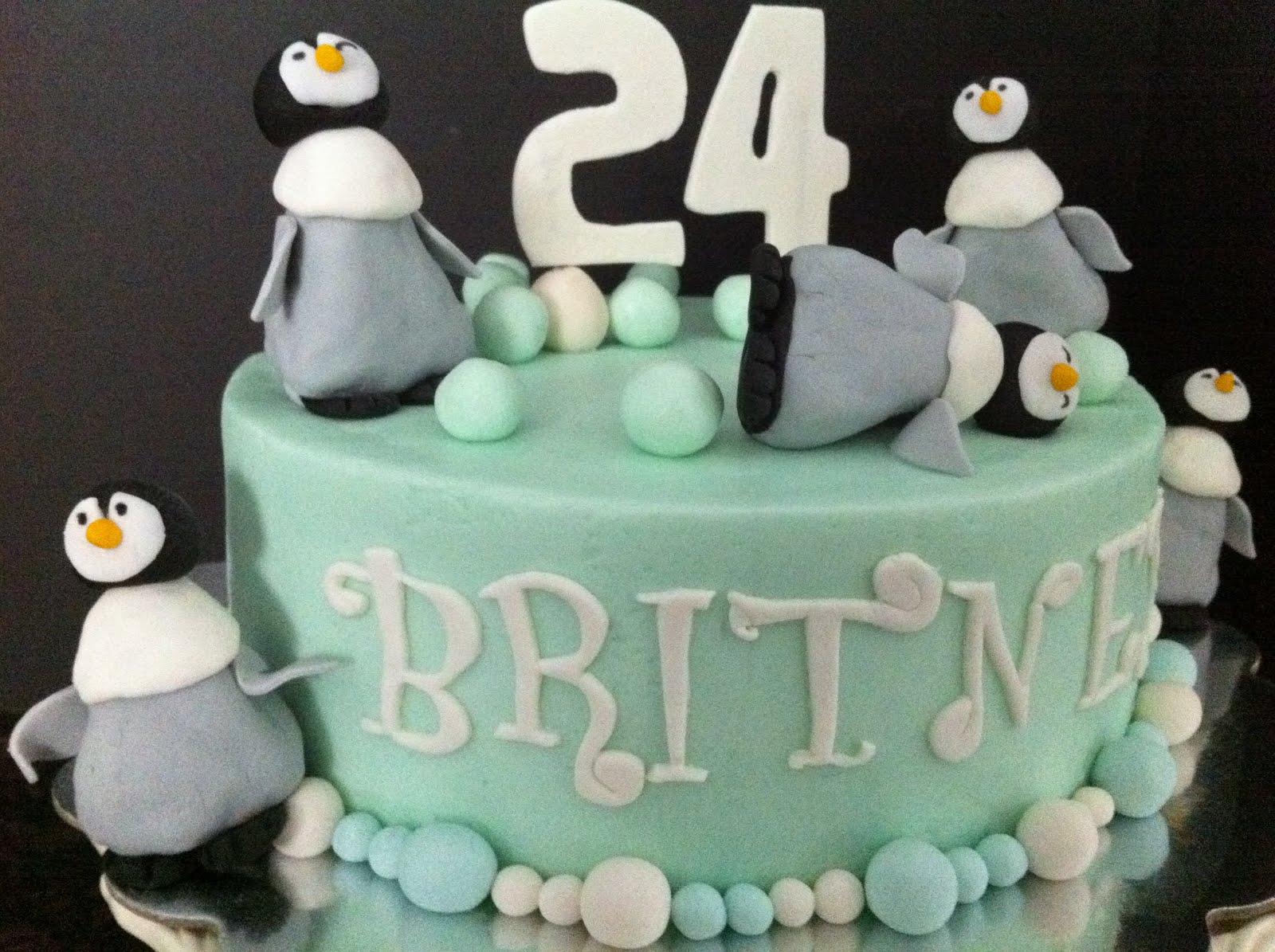 Penguin Birthday Cake My Sweet Zepol