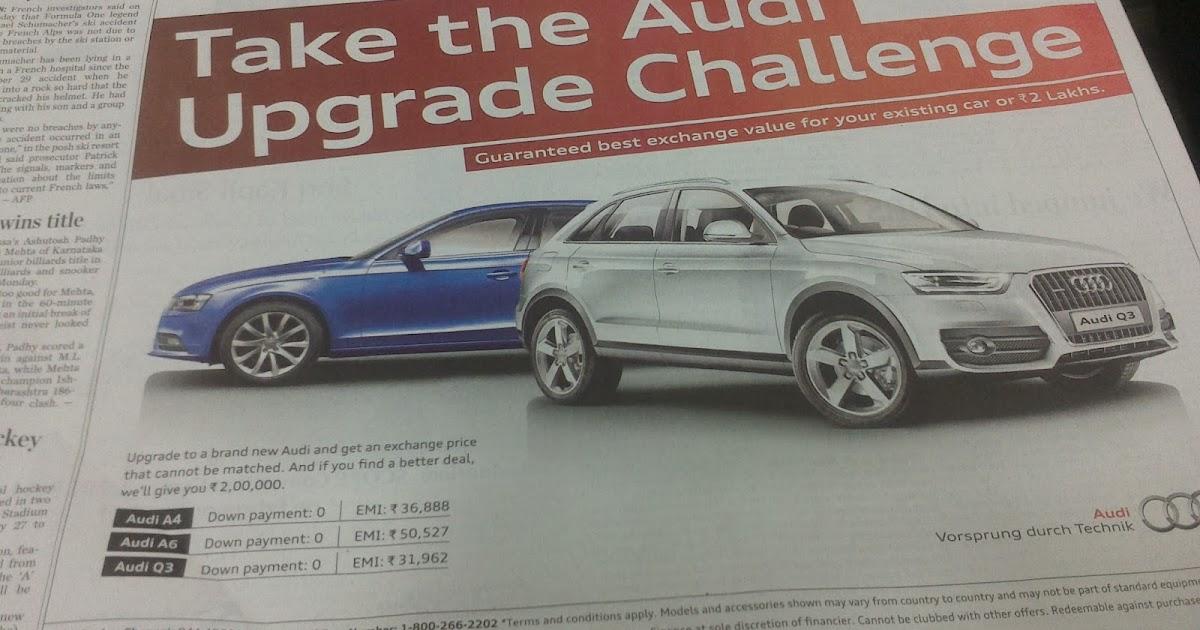 Audi Finance Annual Bullet Scheme For Q3 Enidhi India