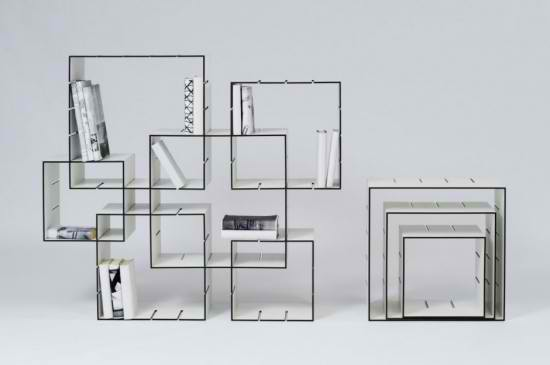 Simple And Unique Bookcase Design Flexible Bookcase Which The Shape