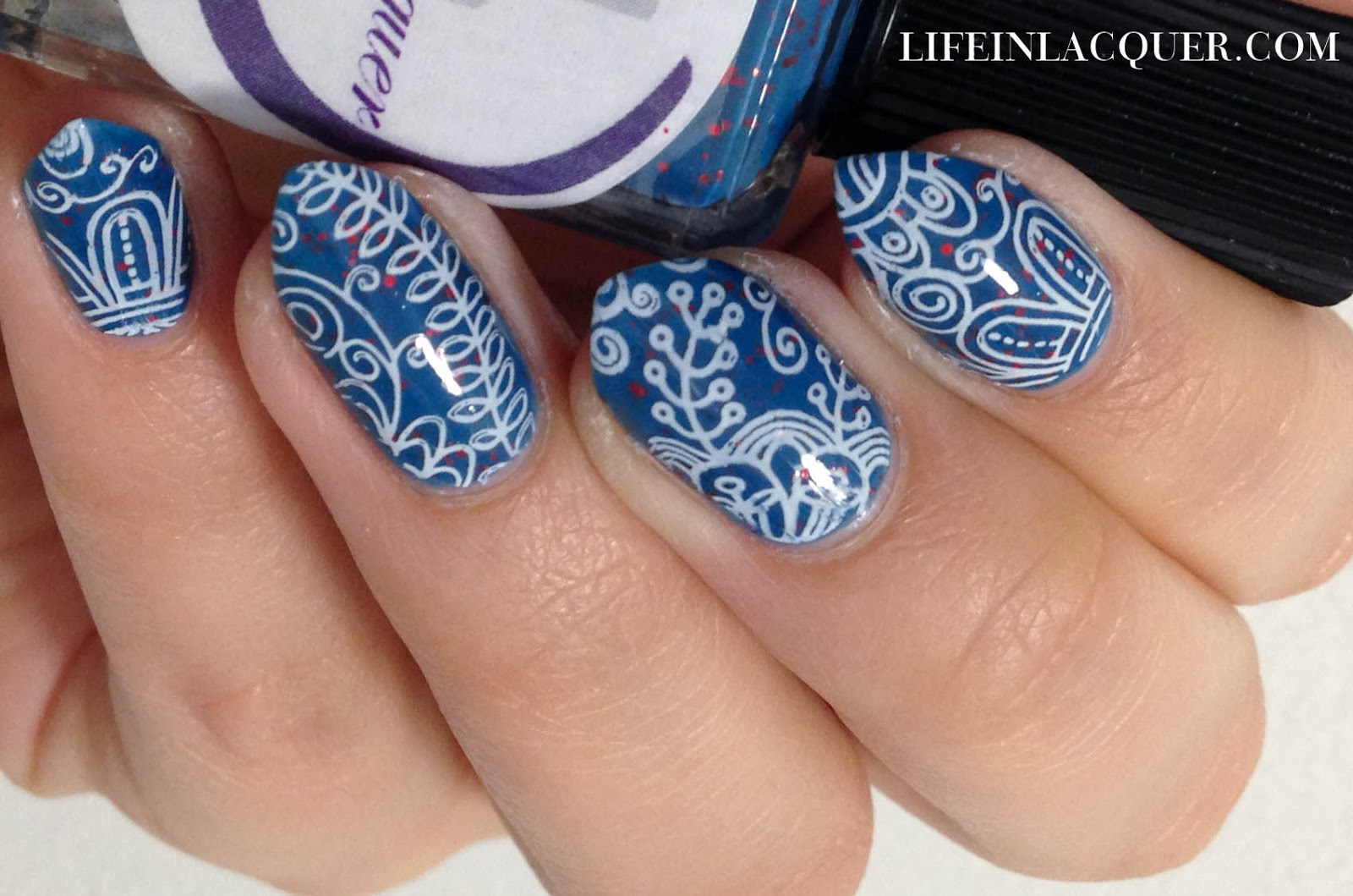 Seek the Fire Stamping Nail Art cadillacquer indie