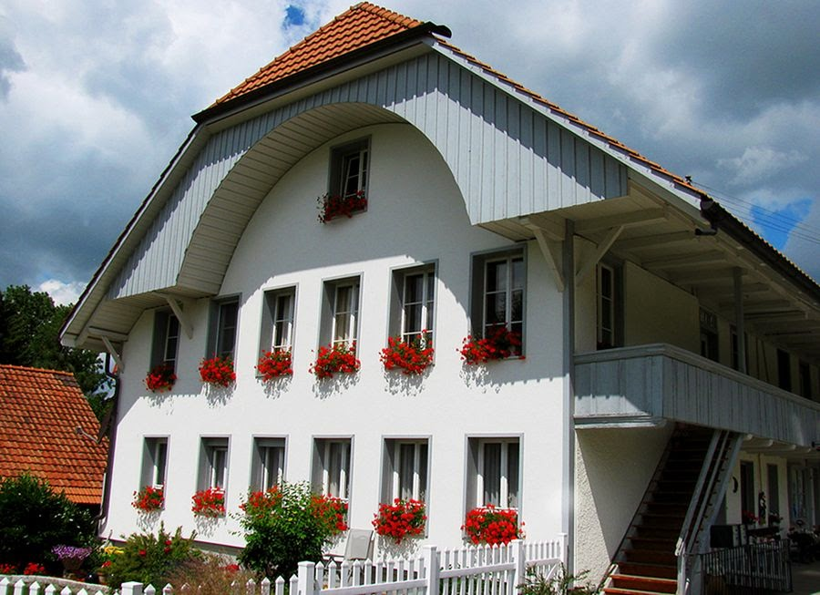 Красивые дома в Альпах