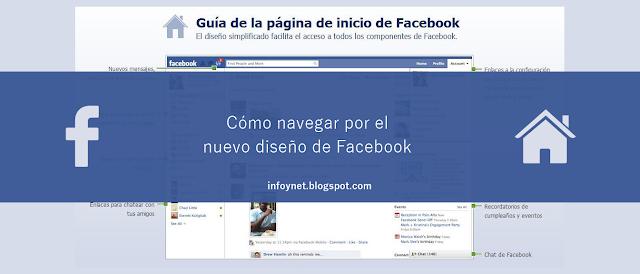 Cómo navegar por el nuevo diseño de Facebook