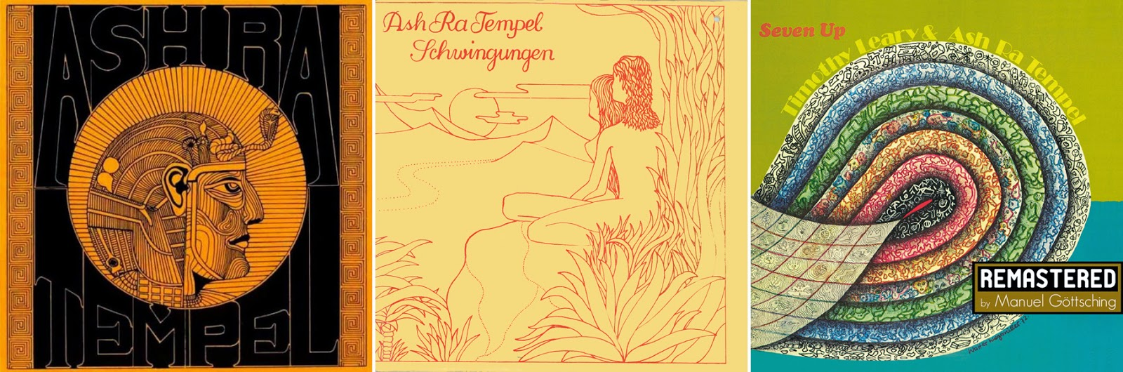 Ash Ra Tempel (1971), Schwingungen (1972), Seven Up (1973) / source : MG.ART www.ashra.com