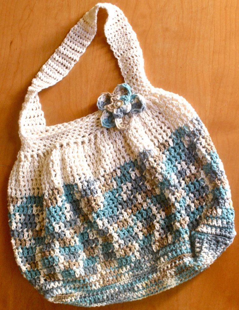Crochet Purse Patterns Free Easy : think this bag would make a great beach bag