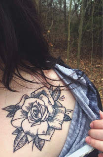 Rose Outline Drawing Tattoo