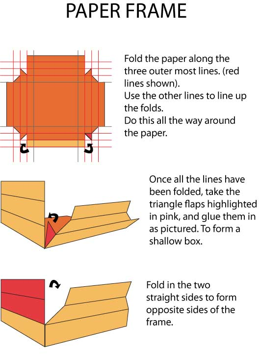 how to make paper roll frame