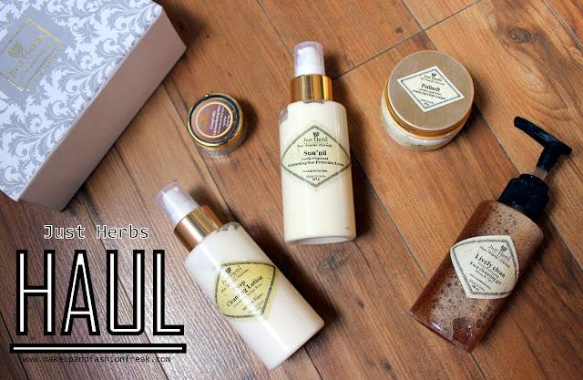 Just Herbs Skincare Haul